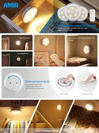 amir wireless led puck light with remote cabinet