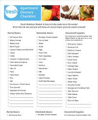 New Apartment Grocery Checklist Download