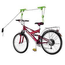 bike lane bike storage lift bike hoist ceiling wall mounted rack
