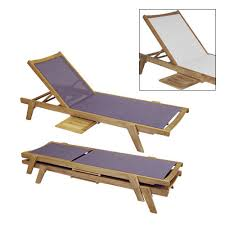 Newport Stacking Lounger Muskoka Teak