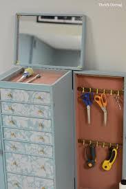 get organized turn an old jewelry box into a diy craft organizer