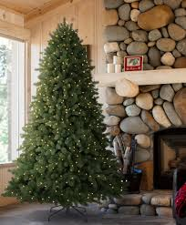 9 Ft Pre Lit Slim Christmas Tree by Classic Noble Fir Christmas Tree Tree Classics