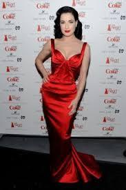 Heart Truth Vintage Red Satin Sweetheart Mermaid Evening Formal Dress