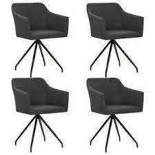 details zu vidaxl 4x esszimmerstuhl dunkelgrau stoff lehnstuhl drehstuhl stuhl barstuhl