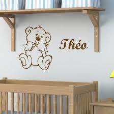 stickers ours chambre bébé sticker nounours à personnaliser décoration chambre enfant et bébé