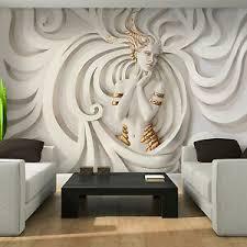 details zu vlies tapete fototapete kunst medusa abstrakt beige 3d effekt modern wohnzimmer