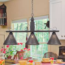Punched Tin Lamp Shades Canada by Bar Island Light Large Wood U0026 Wrought Iron Fixture With Punched