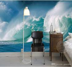 Custom Sea Wave Wallpaper Seascape Photo 3D Modern Wall Mural Painting Art Home Decor Children
