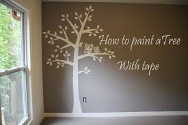 Stylish Decoration Tree Painting On Wall How To Paint 4 Baby Room Easy Tape Paper Only