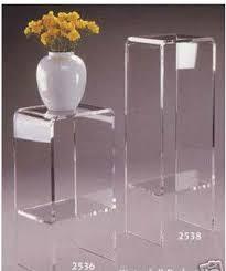 Acrylic Furniture Pedestal Stand Art Sculpture