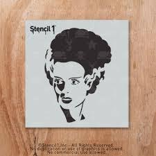 Free Frankenstein Pumpkin Stencil Printables by Bride Of Frankenstein Stencil Small 5 75 U2033x6 U2033 Stencil1