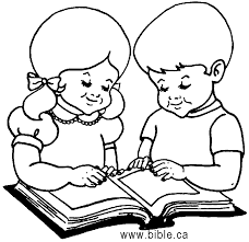 Coloring Pages Reading Page Of Child The Bible In
