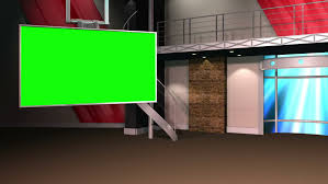 This Background Is Designed To Be Used In A Green Screen Or Chroma Key Video Production The Studio Setup Utilized As News Set Backdrop