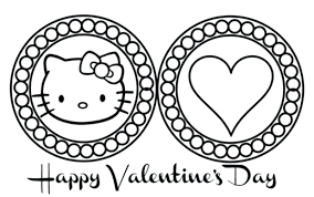 Coloring Pages Hello Kitty Mermaid Christmas Games Free Printable Cute Valentines Day Full Size