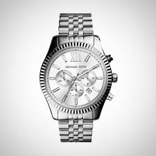 Michael Kors MK8405 Lexington Herrenchronograph Silber Uhr
