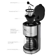 Mr Wilsons Cabinet Of Wonder Pdf by Amazon Com Aicok Drip Coffee Maker 12 Cup With Coffee Pot