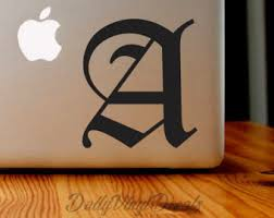 Old English Letter Vinyl Decal