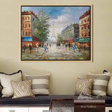 landschaft handgemalte wand bilder malerei für wohnzimmer zq 184 buy landschaft ölgemälde straßenszenen