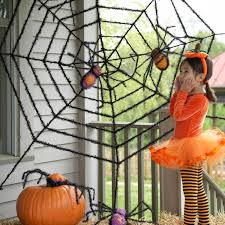 Metal Halloween Yard Stakes by Amazon Com Giant Spider Web And Giant Spiders Halloween