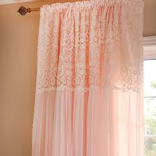 Pink Ruffled Window Curtains by Ruffle Curtain