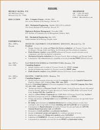 Resume Sample For Mechanical Engineering Student Best Examples Engineer