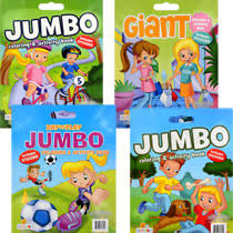 Bulk Super Jumbo Activity And Coloring Books With Stickers At