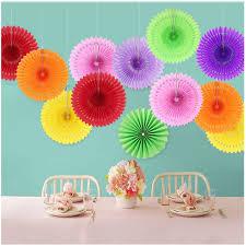 6 Pcs 820cm Multi Color Paper Fan Flower Folding DIY Crafts