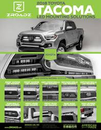 100 Where Are Toyota Trucks Made ZROADZ LOW PROFILE LED MOUNTING SOLUTIONS FOR 2018 TOYOTA TACOMA