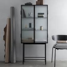 ferm living vitrine glas schwarz