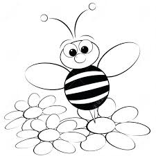 Bee Coloring Pages Printable Queen Colouring Beehive Page Free Kids Cute Bees