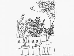 Download Coloring Pages Garden Bird House At Flower Page