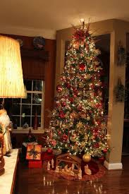 Gorgeous 10 Foot Christmas Tree All Red And Gold With A Touch Of Animal Print Designs By Pinky Oh