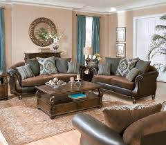 Dark Brown Couch Living Room Ideas by Home Design Furniture Store Blue With Brown Leather Living Room
