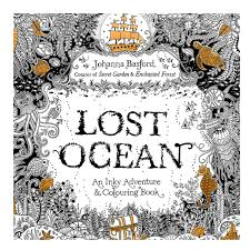 24 Pages LOST OCEAN Coloring Book Antistress For Children Adult Relieve Stress Painting Drawing Secret Garden