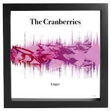 the cranberries linger linger framed and numbered soundwave poster cranberries world
