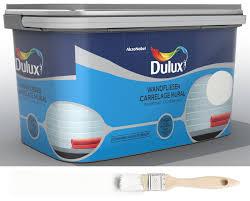 dulux fresh up renovierfarbe für wandfliesen in bad und küche glänzend weiß 2 l