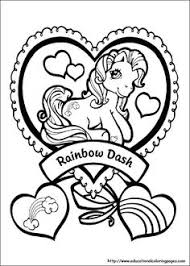 Print Out My Little Pony Friendship Is Magic Rainbow Dash Coloring Pages