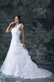 one shoulder ball gown wedding dress 2016 strapless flowers