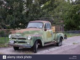 Old Chevrolet Trucks From The 1950s In Alpine, Texas Stock Photo ...