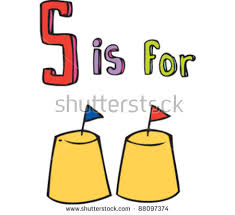 Drawing Of Letter S Is For Sandcastle