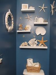 Sea Glass Bathroom Accessories by Dark Blue Wall Interior Color Decoration For Beach Inspired