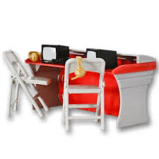 Wwe Wrestling Room Decor by Red Breakaway Commentator Table Playset For Wwe Wrestling Action