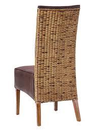 rattanstuhl polsterstuhl esszimmerstuhl stühle antonio polster wildlederoptik prairie braun