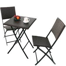 Grand Patio Parma Rattan Patio Bistro Set, Weather Resistant Outdoor  Furniture Sets With Rust-Proof Steel Frames, 3 Piece Bistro Set Of Foldable  ... Americana Wicker Bistro Table And Chairs Set Plowhearth Royalcraft Cannes Brown Rattan 3pc 2 Seater Cube Breakfast Ceylon Outdoor 3piece By Christopher Knight Home Hampton Bay Aria 3piece Balcony Patio Sirio Valentine Swivel Ellie 3 Piece Folding Fniture W Round In Dark Outdoor Cast Alinium Rattan Ding Sets Georgina With Cushions Wilko Effect