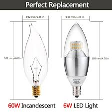 lohas led new style 6watt candelabra e12 base replacement 60watt