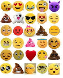 Amazon Set of 4 Emoji Pillows 12 Inch Yellow Smiley