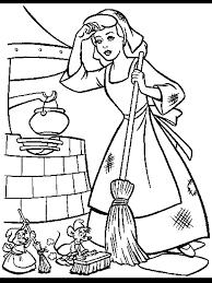 Cinderella Coloring Pages Disney Cute