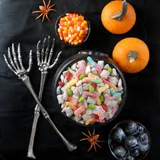 Pumpkin Spice Chex Mix With Candy Corn by 11 Wicked Snack Mixes For Halloween Munchies Brit Co
