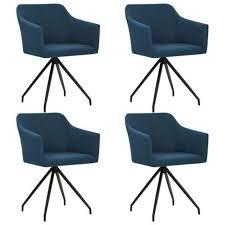 vidaxl esszimmerstühle drehbar 4 stk blau stoff 276057