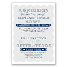 No Regrets Vow Renewal Invitation